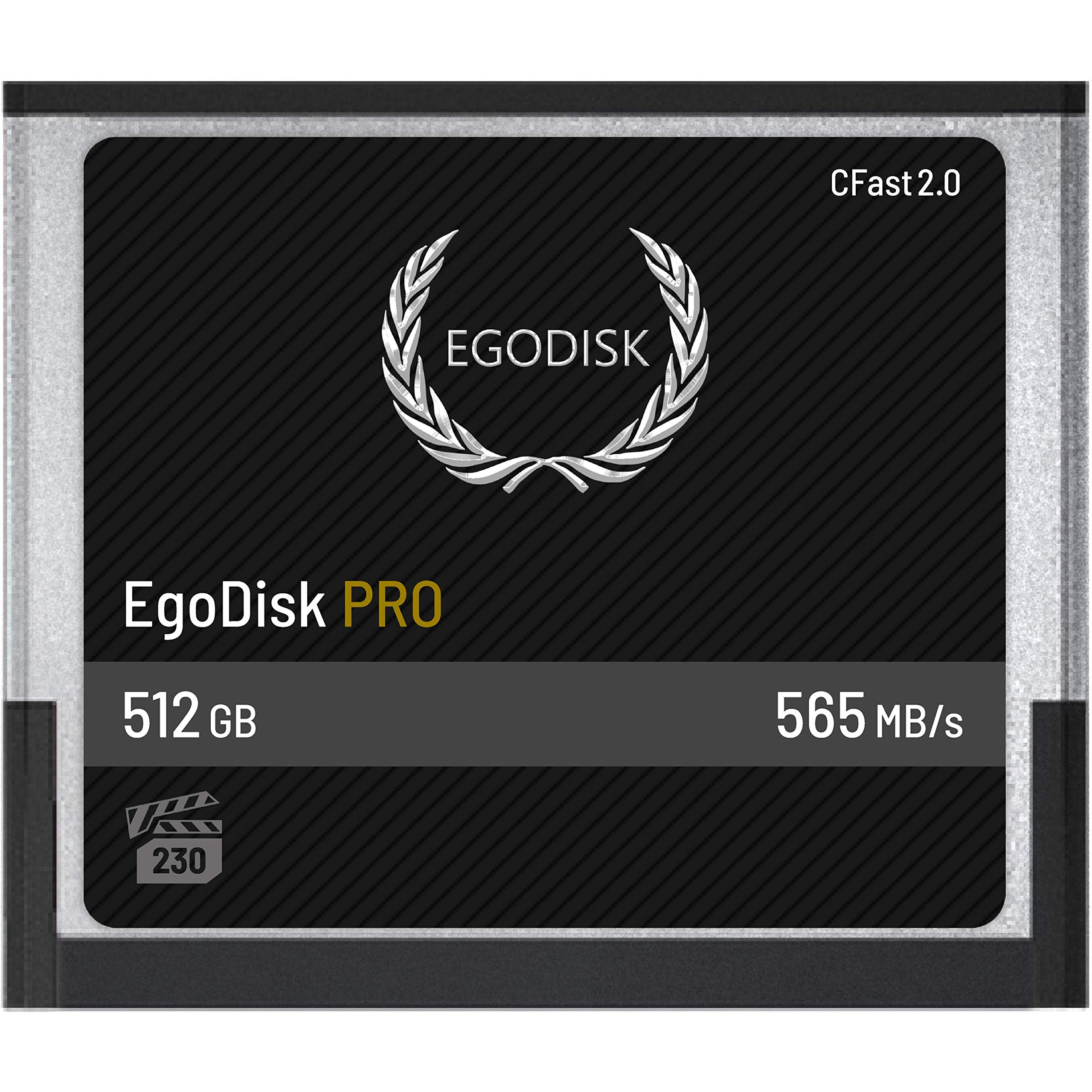EgoDisk PRO 512GB CFast 2.0 Card - (BLACKMAGIC DESIGN URSA MINI 4K • 4.6K | CANON • XC10 • XC15 • 1DX MARK II • C200 • C700 | HASSELBLAD H6D-50C • H6D-100C | PHANTOM VEO S) - 3 Year Warranty by EgoDisk