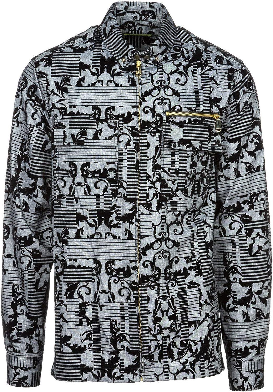 Versace Jeans Hombre Camisa Grigio: Amazon.es: Ropa y accesorios