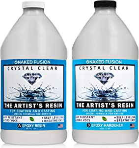 Crystal Clear- Art Resin Epoxy - The Artist's Resin for Coating, Casting, Resin Art, Geodes, Tabletop, Bar Top, Live Edge Tables, River Tables- Non-Toxic -1 Gallon Kit