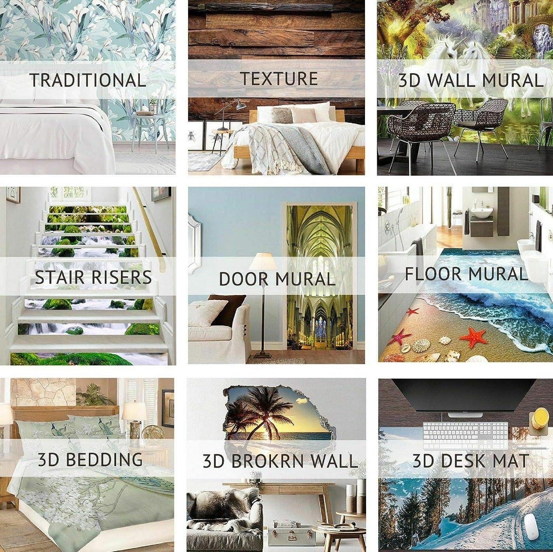 Details about  /3D Hexagonal Pattern 4 Tile Marble Stair Riser Photo Mural Vinyl MXY Wallpaper