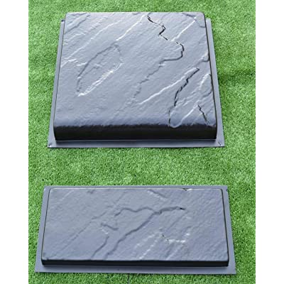 Betonex Set Stair and Riser Plate Mold Concrete Stepping Stone Mould #S06 : Garden & Outdoor
