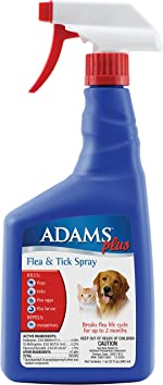 Adams Plus Flea and Tick Spray for Cats and Dogs, 32