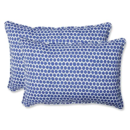 Amazon Com Set Of 2 Ruche D Abeille Royal Blue And White Outdoor