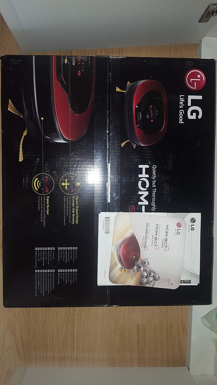 LG VR8601RR Sin bolsa 0.6L Negro, Rojo aspiradora robotizada - aspiradoras robotizadas (Sin bolsa, 0,6 L, Negro, Rojo, 60 dB, Mancha, HEPA 11): 391.17: ...