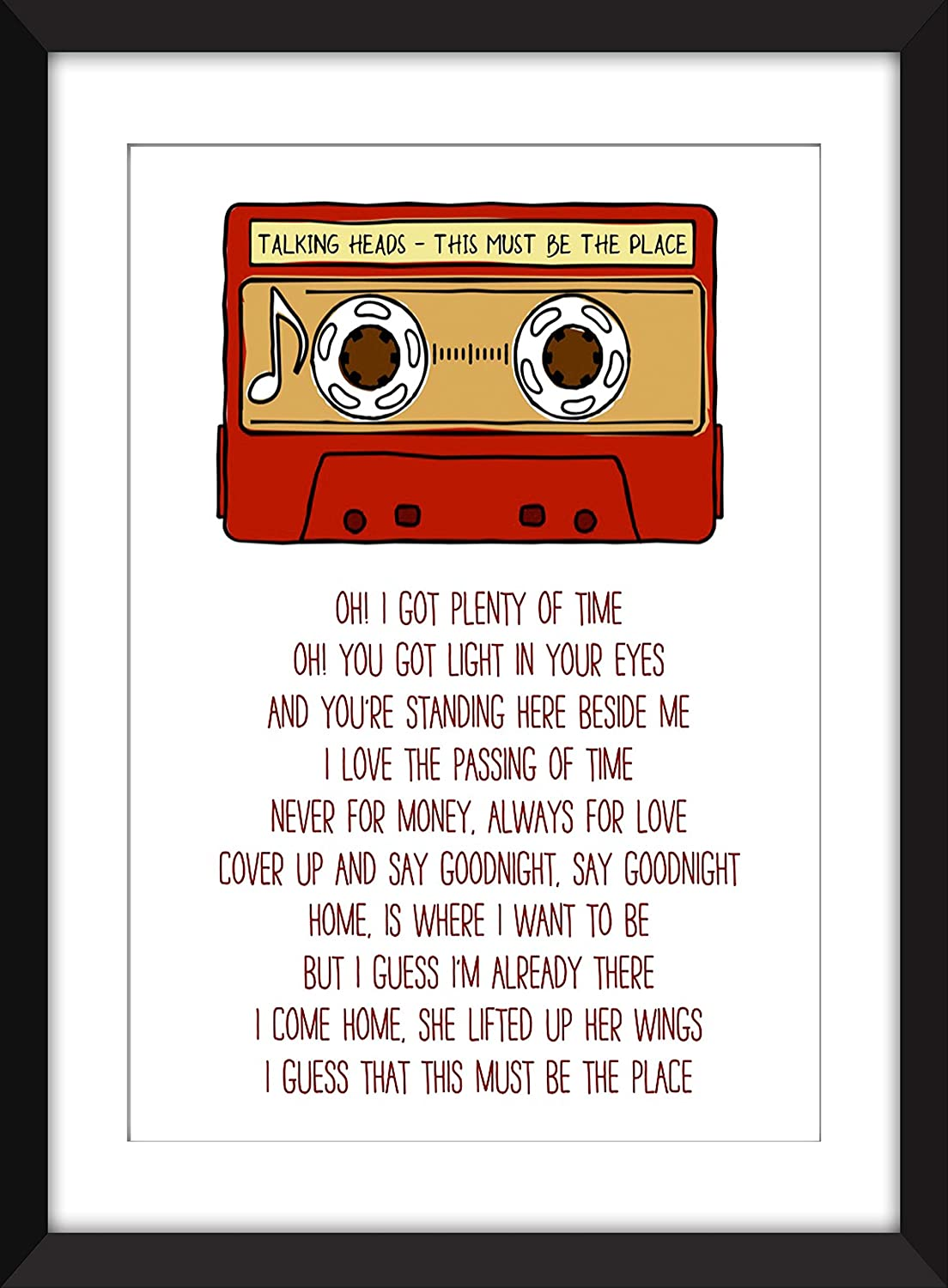 Amazoncom Talking Heads This Must Be The Place Lyrics Unframed