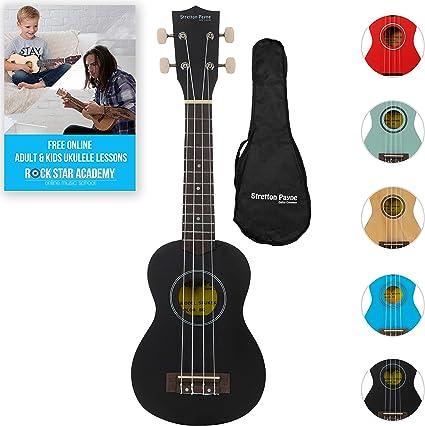 Ukelele soprano con bolsa y curso de Ukelele en Internet: Amazon ...