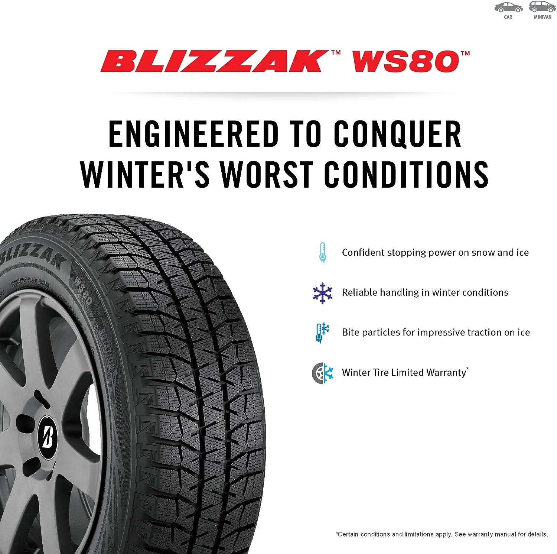 225//60R16 98H Bridgestone Blizzak WS80 Winter Radial Tire
