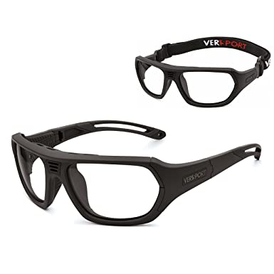 c6b4296963b Amazon.com  VERSPORT  TROY 55 Protective Sports Glasses - Matte ...