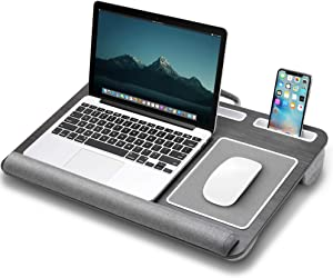 Gimars Home Office Lap Desk Fits up to 17 Inches Laptop with Cushion Wrist Rest, Mouse Pad, Tablet and Phone Holder