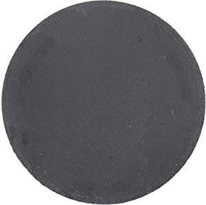 Creative Co-op Black Slate Cheese/Cutting Board with Natural Textured Surface Serveware
