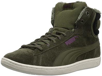 5bb72197ecc PUMA Women s Vikky Mid Corduroy Sneaker