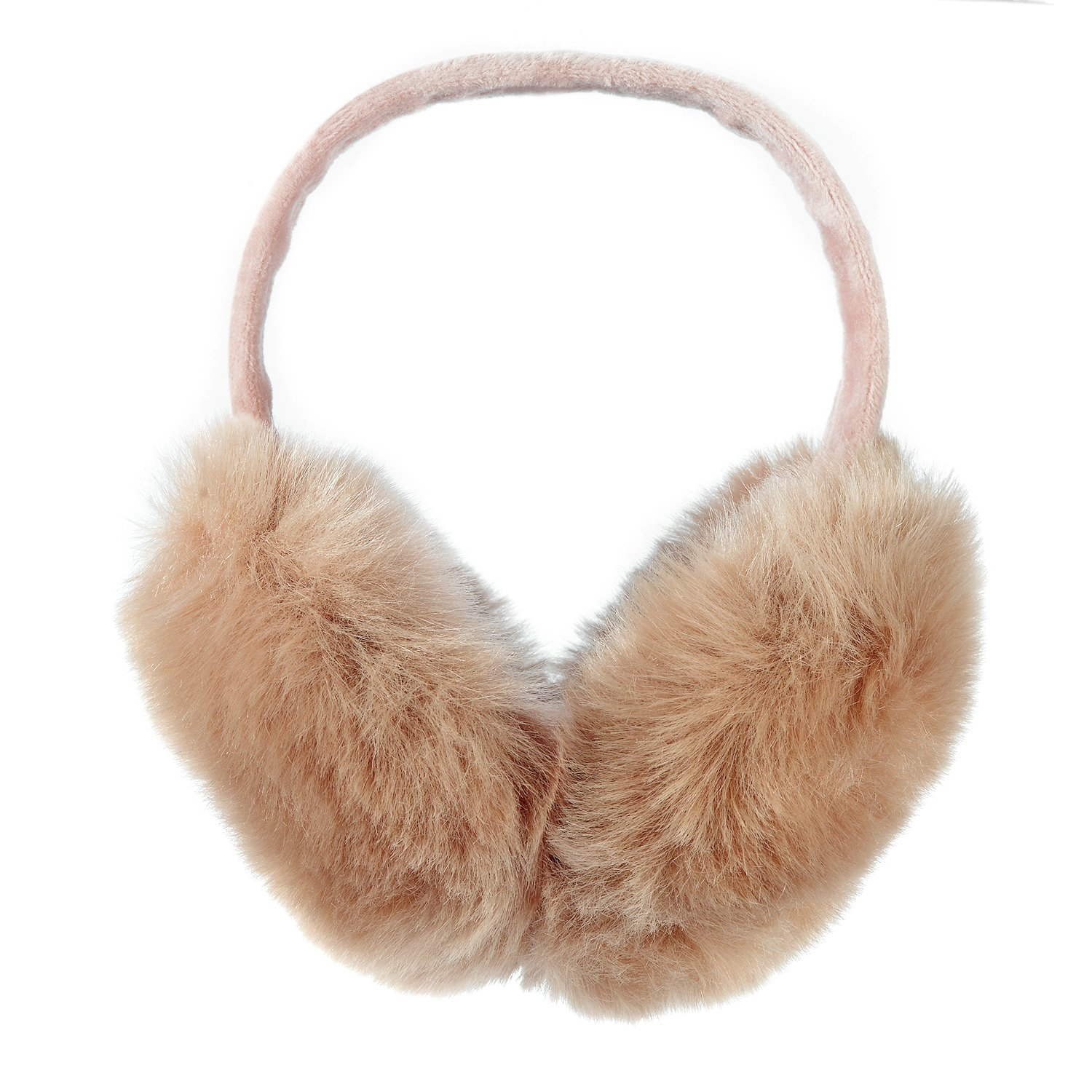 Hey Song Women's Faux Fur Winter Fashion Outdoor Earmuffs with Fur Foldable Earwarmer