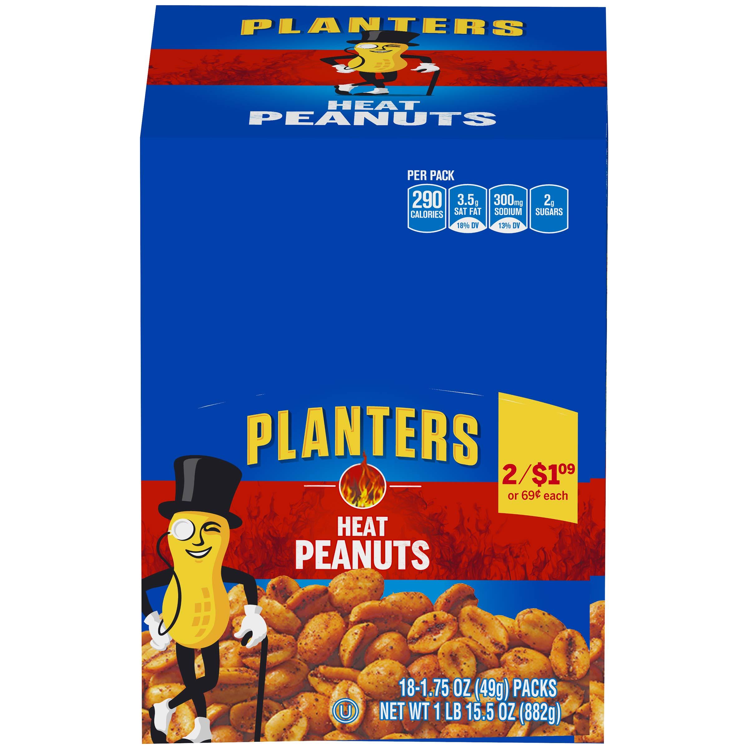 Planters Heat Peanuts (1.75 oz Bag) by Planters