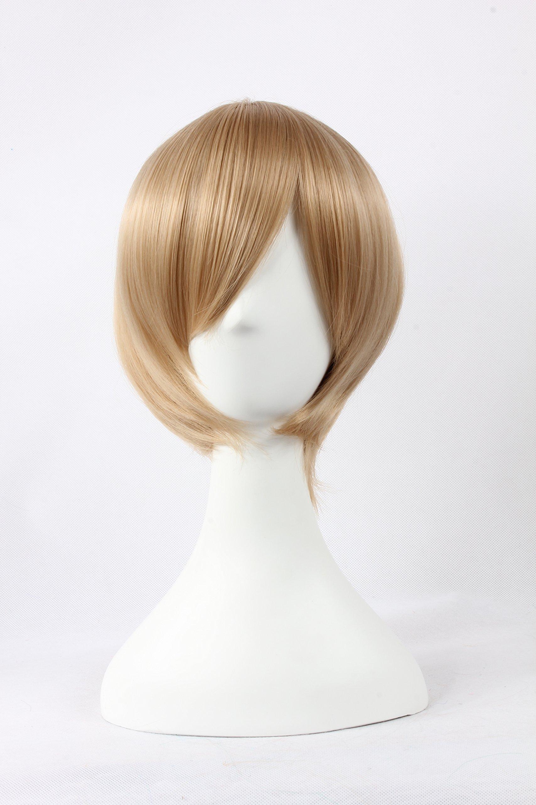 Coolsky Wigs Shugo Chara£¬Natsume Yuujinchou £¬Light Katekyo Hitman Reborn Light Flaxen Hair Cosplay