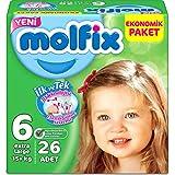 Molfix X Large 6 No Bebek Bezi Eko Paket 15+ Kg 26 Adet