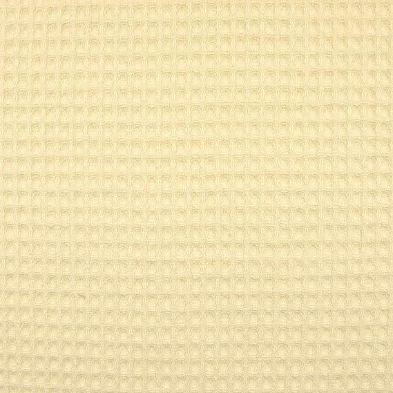 Tela de algodón piqué cuadriculada Natural – Precio de 0,5 metro ...