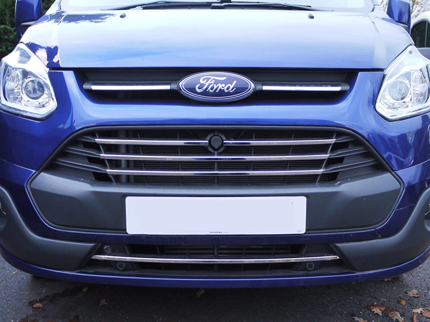 Custom Chrome 5 Piece Front Grille Cover Demon Styling