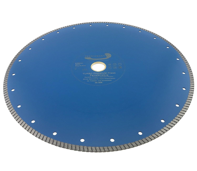 PRODIAMANT Profi Diamant-Trennscheibe Fliese//Feinsteinzeug extra d/ünn 350 mm x 30//25,4 mm Diamanttrennscheibe PDX83.975 350mm Fliesenscheibe