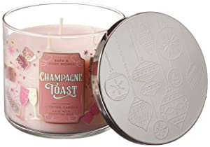 White Barn Bath and Body Works 3 Wick Scented Candle Champagne Toast 2019 14.5 Ounce