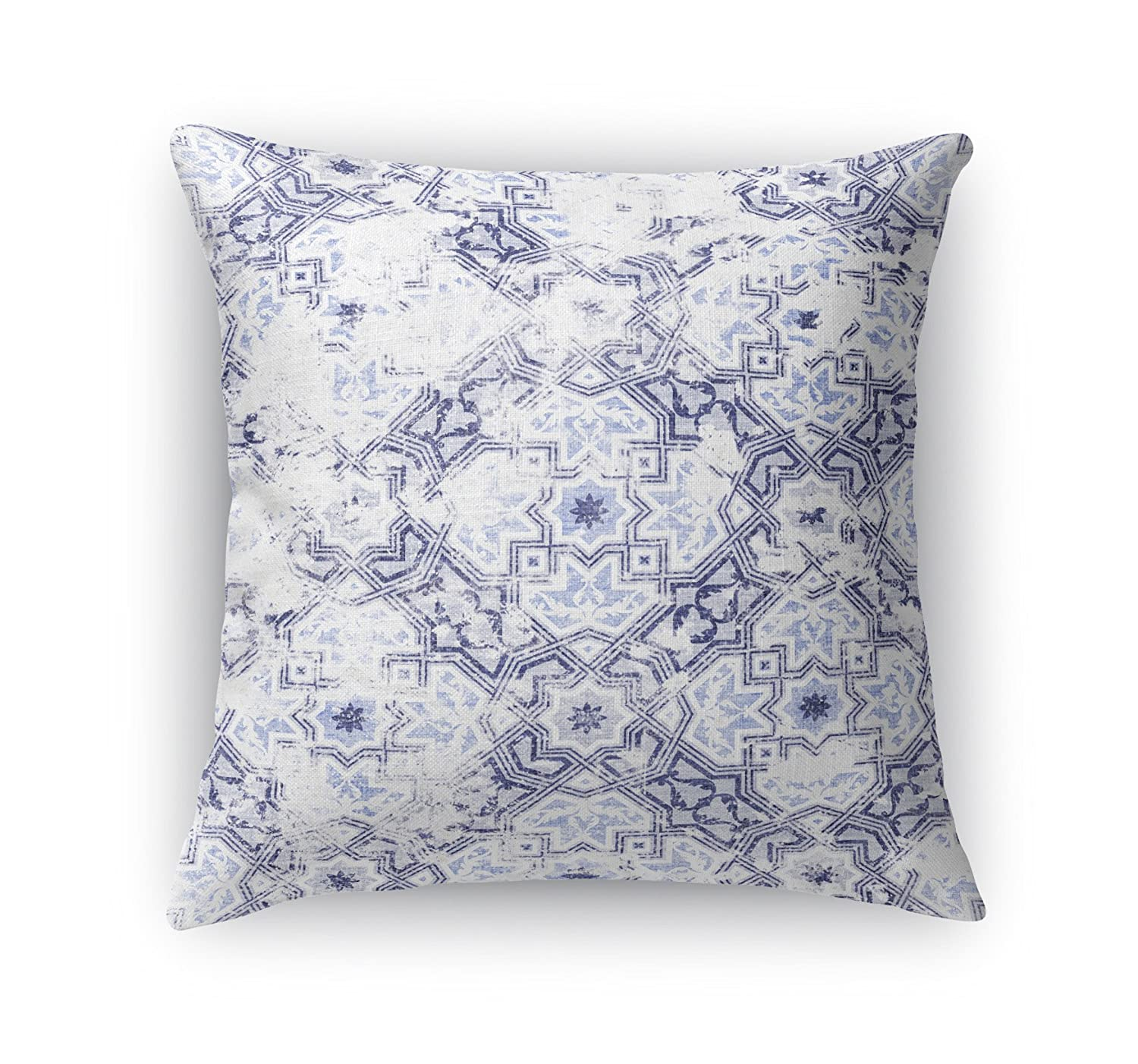 MGTAVC2025DI18 KAVKA Designs Sandoval Blue Accent Pillow, Size: 18X18X6 - - NAVAJO Collection Blue//Ivory