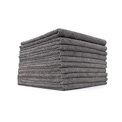 The Rag Company (10-Pack) 16 in. x 16 in. Professional EDGELESS 365 GSM Premium 70/30 Blend Metal POLISHING & Detailing Microfiber Towels The Miner: Automotive
