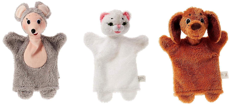 ABA (9 x 19 x 34 cm de Animales marioneta de Mano de 2 Box (Multicolor)
