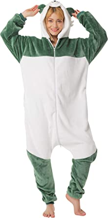 corimori- Kigurumi Pijamas (10+ Modelos) Lee el Panda Disfraz Adultos Invierno, Color blanco, gris, verde, Talla 180-190 cm (1852) , color/modelo ...