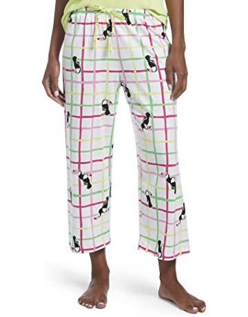 d08c3678d8a HUE Women's Capri Printed Knit Pajama Sleep Pant, Toucan Trail/White, Small