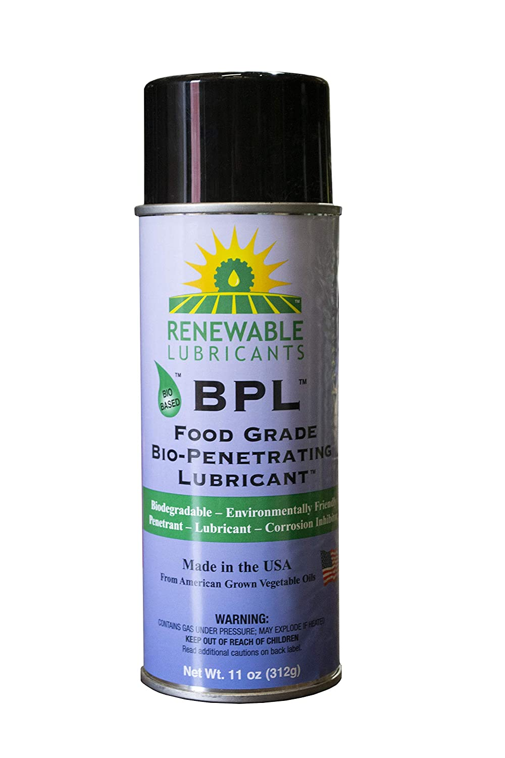 Renewable Lubricants Food Grade Bio-Penetrating Lubricant, Multipurpose, 11 oz Aerosol Can