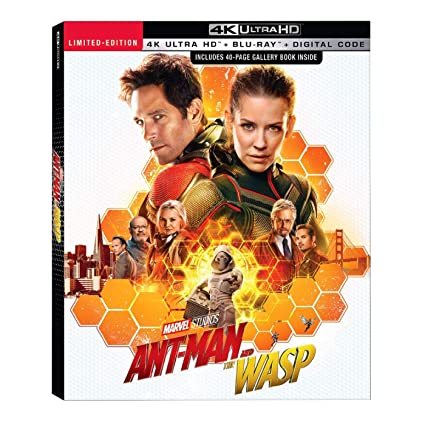 Ant-Man & the Wasp + 40 Page Book (4K/UHD + Blu-ray + Digital)