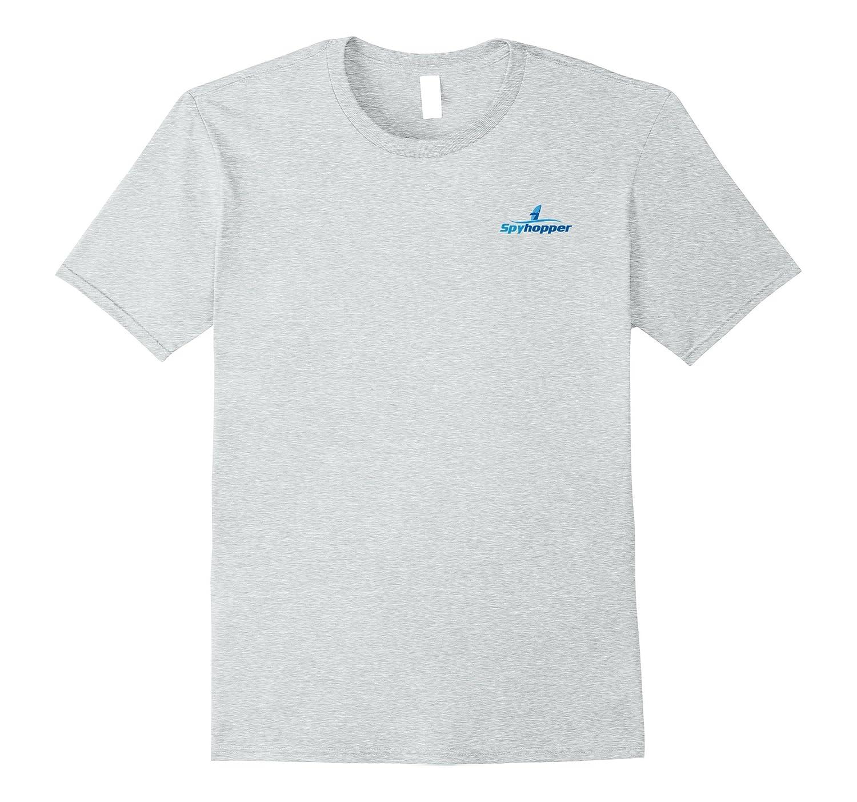 Whale Tees: Simple Spyhopping Whale T-Shirt-FL