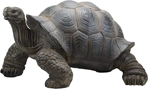 Ebros Gift Realistic Lifelike Galapagos Giant Tortoise Statue 17.25″ Wide Marine Reptile Tortoises Garden Greeter Home and Patio Gallery Quality Sculpture