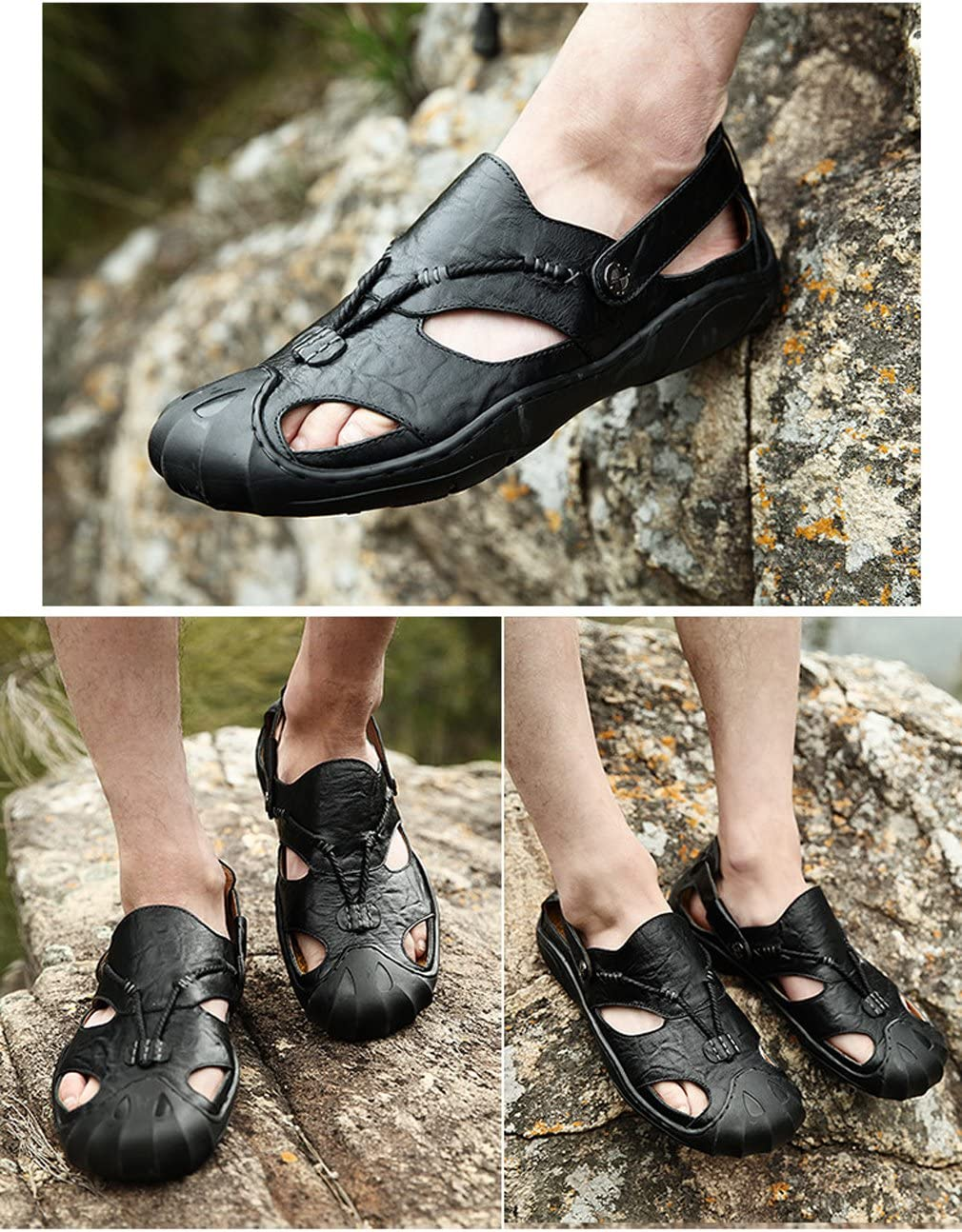 Yaloee Leather Summer Men Sandals Shoes