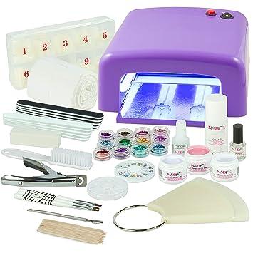 Uv ManucureNail Art Professionnel Les Pour Tous Format Complet Lampe Ongles Kit Accessoires Violette4 De 36w AmpoulesGels3Et 3Tl1cFKJ