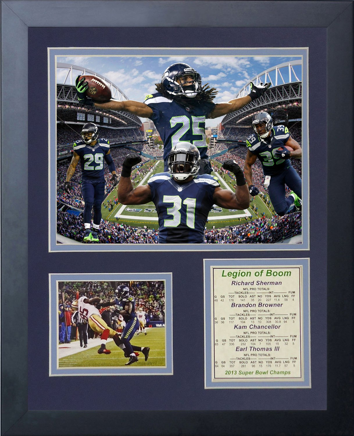 Amazon legends never die 2014 seattle seahawks super bowl amazon legends never die 2014 seattle seahawks super bowl xlviii champions legion of boom framed photo collage 11x14 inch sports outdoors jeuxipadfo Choice Image