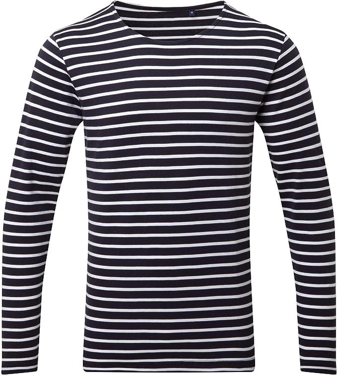 T-Shirt Homme Asquith /& Fox Mens Marini/ère Coastal Long Sleeve Tee T