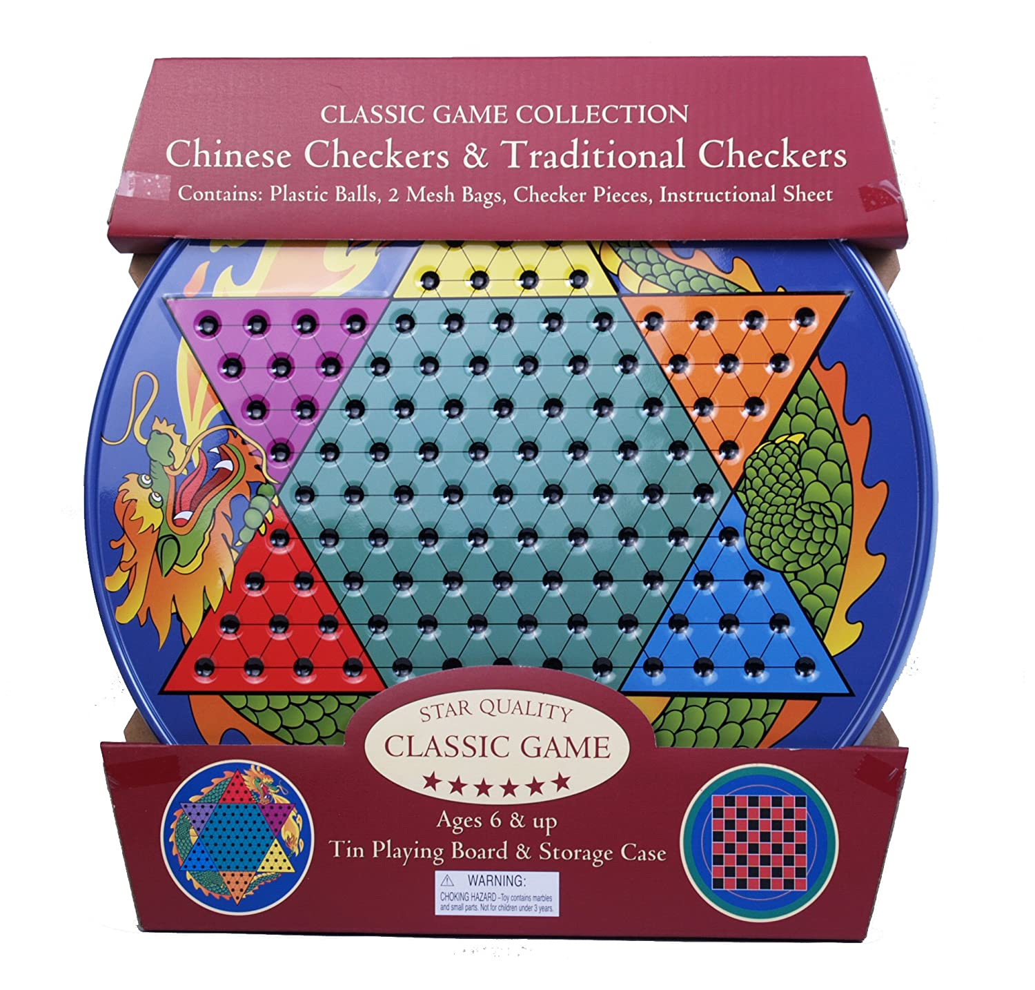 Amazon.com: Chinese Checkers and Traditional Checkers: Toys & Games