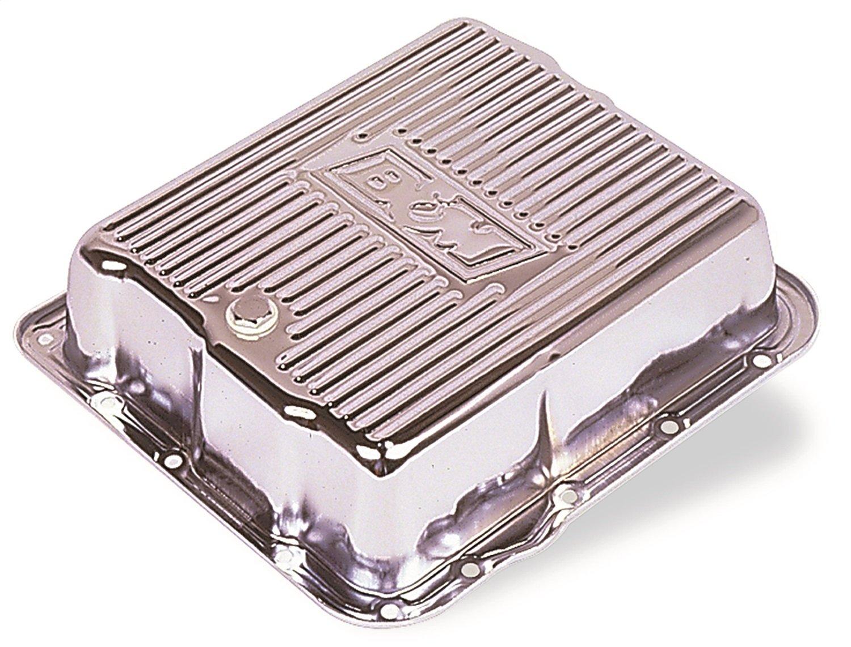 B&M 70289 Chrome Steel Extra Depth Transmission Pan by B&M