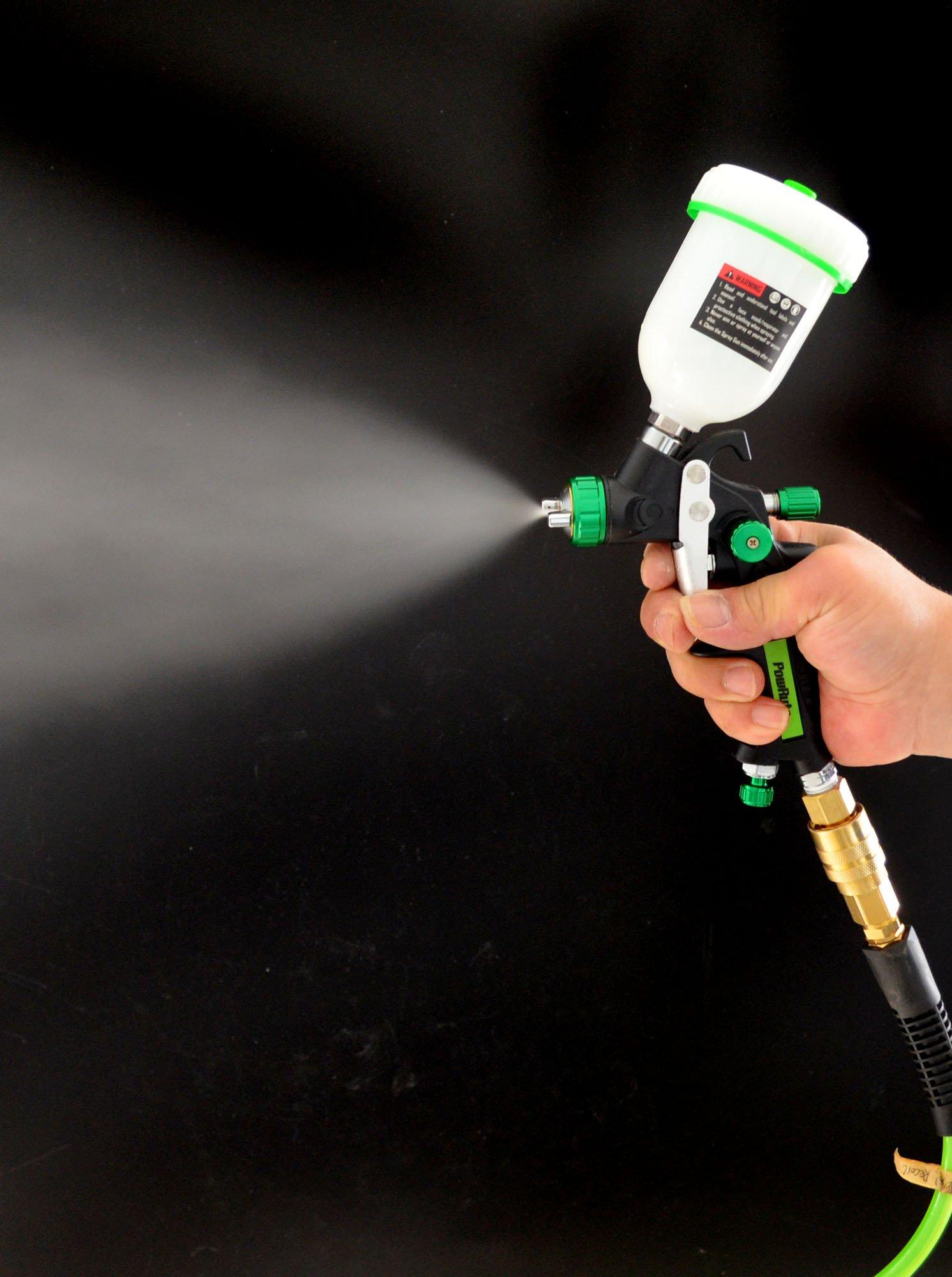PowRyte Elite 4.2 Oz Composite Mini HVLP Gravity Feed Air Spray Gun - 0.8mm Nozzle by PowRyte (Image #7)