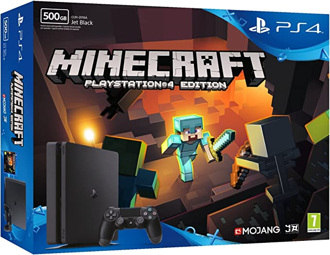 PlayStation 4 (PS4) - Consola De 500 GB + Minecraft: Amazon.es ...