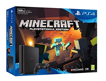 PlayStation 4 (PS4) - Consola De 500 GB + Minecraft: Amazon ...