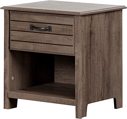 South Shore Ulysses 1-Drawer Nightstand Fall Oak