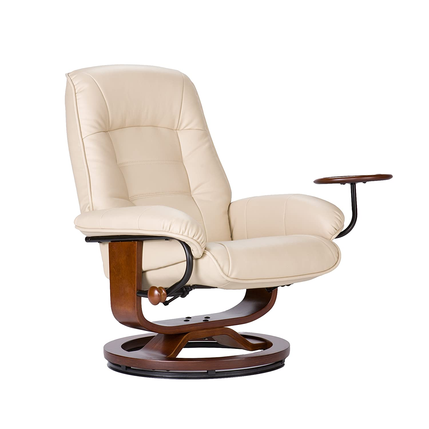 Miraculous Bonded Leather Recliner And Ottoman Taupe Short Links Chair Design For Home Short Linksinfo