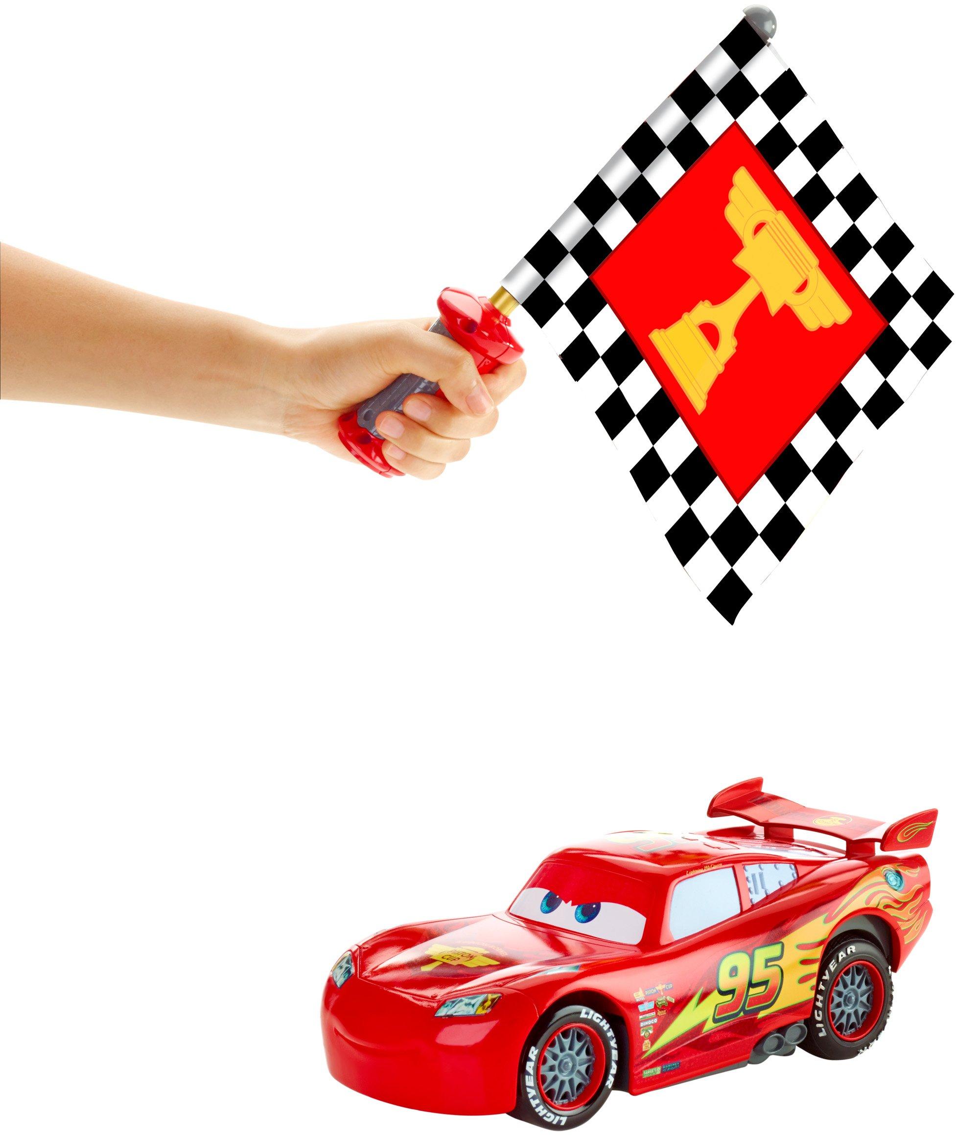 Disney Cars Flag Finish Lightning McQueen Vehicle by Mattel (Image #3)