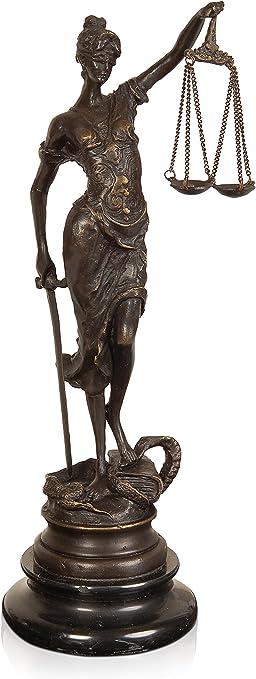 Scultura in bronzo giustizia