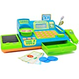 Boley Kids Toy Cash Register - Pretend Play Educational Toy Cash Register With Electronic Sounds, Play Money, Grocery…