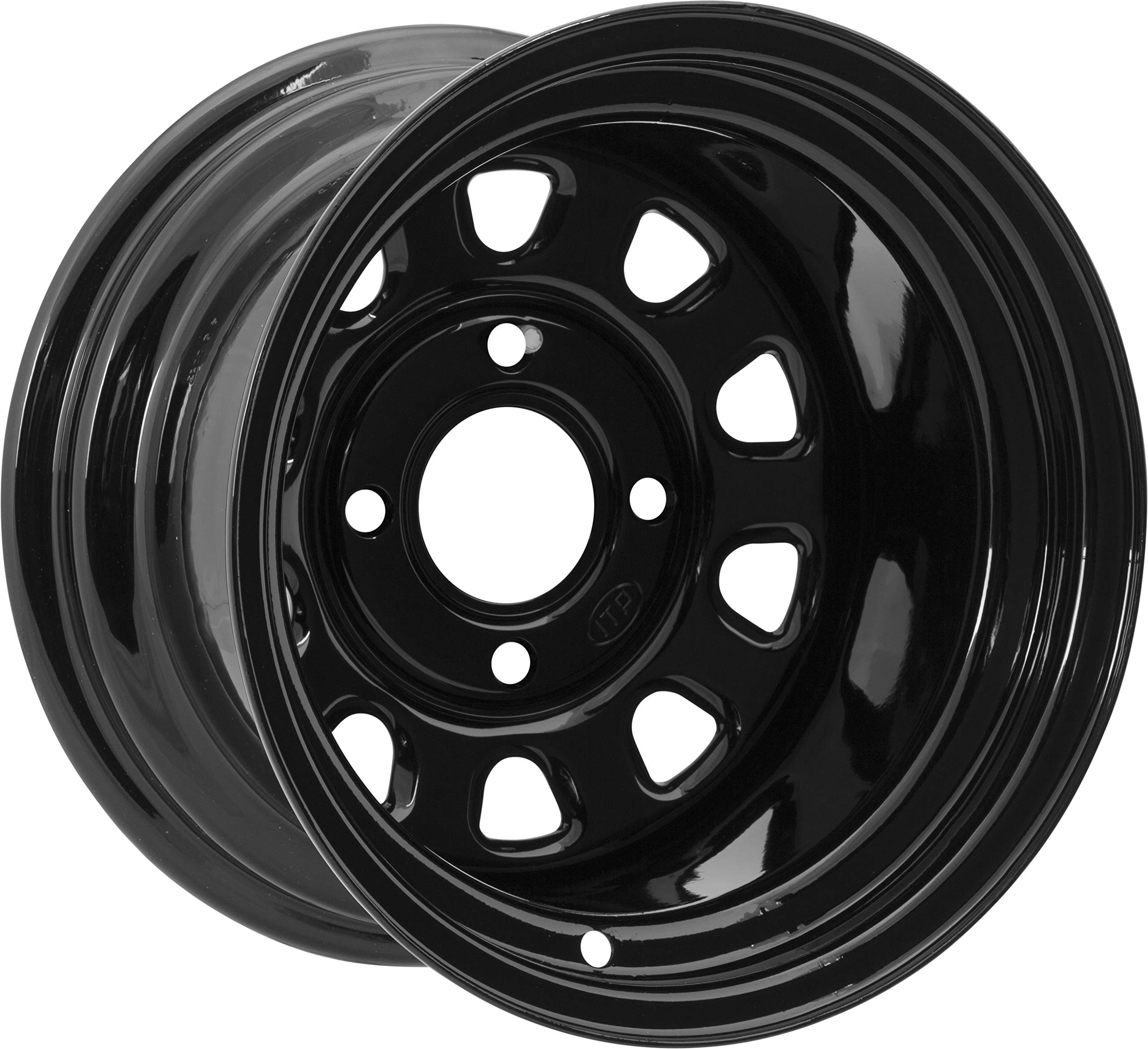 14x8//4x115mm ITP SS ALLOY SS212 Black Wheel with Machined Finish