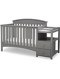 Delta Children Abby Convertible Crib 'N' Changer, Grey