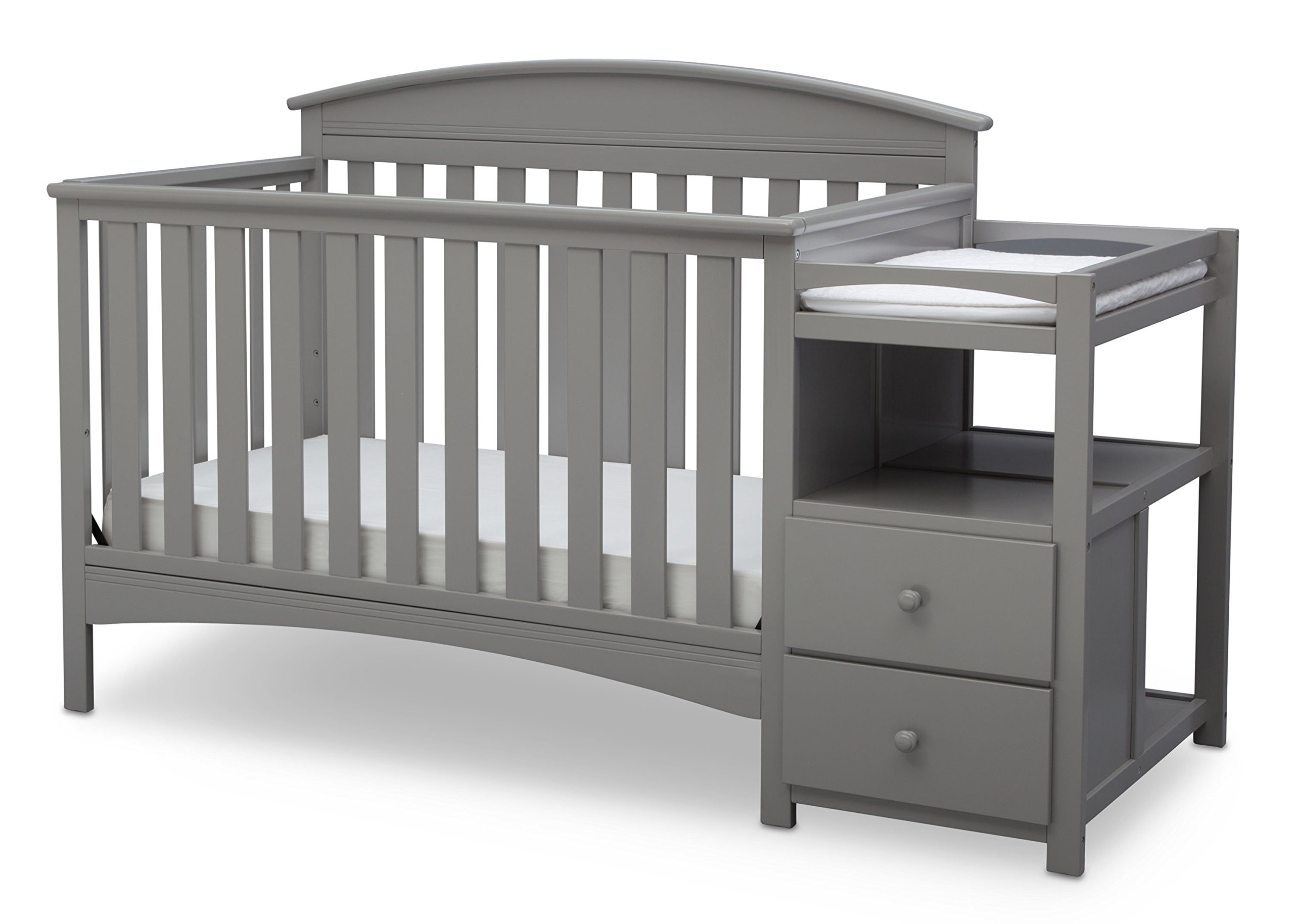 Delta Children Abby Convertible Crib and Changer, Grey by Delta Children