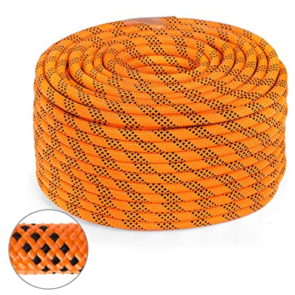 Mophorn 0 56 Inch Double Braid Polyester Rope 100 Ft Nylon Pulling Rope  1100LBS High Force Polyester Load Sailing Rope